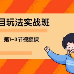 宅男 《闲鱼项目玩法实战班 》线上第八期,第1-3节视频课(无水印)
