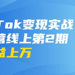 龟课·TIK TOK变现实战训练营线上第2期:日入上百、月收益上万不成问题